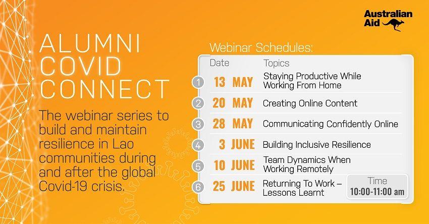 Alumni COVID Connect webinar series…