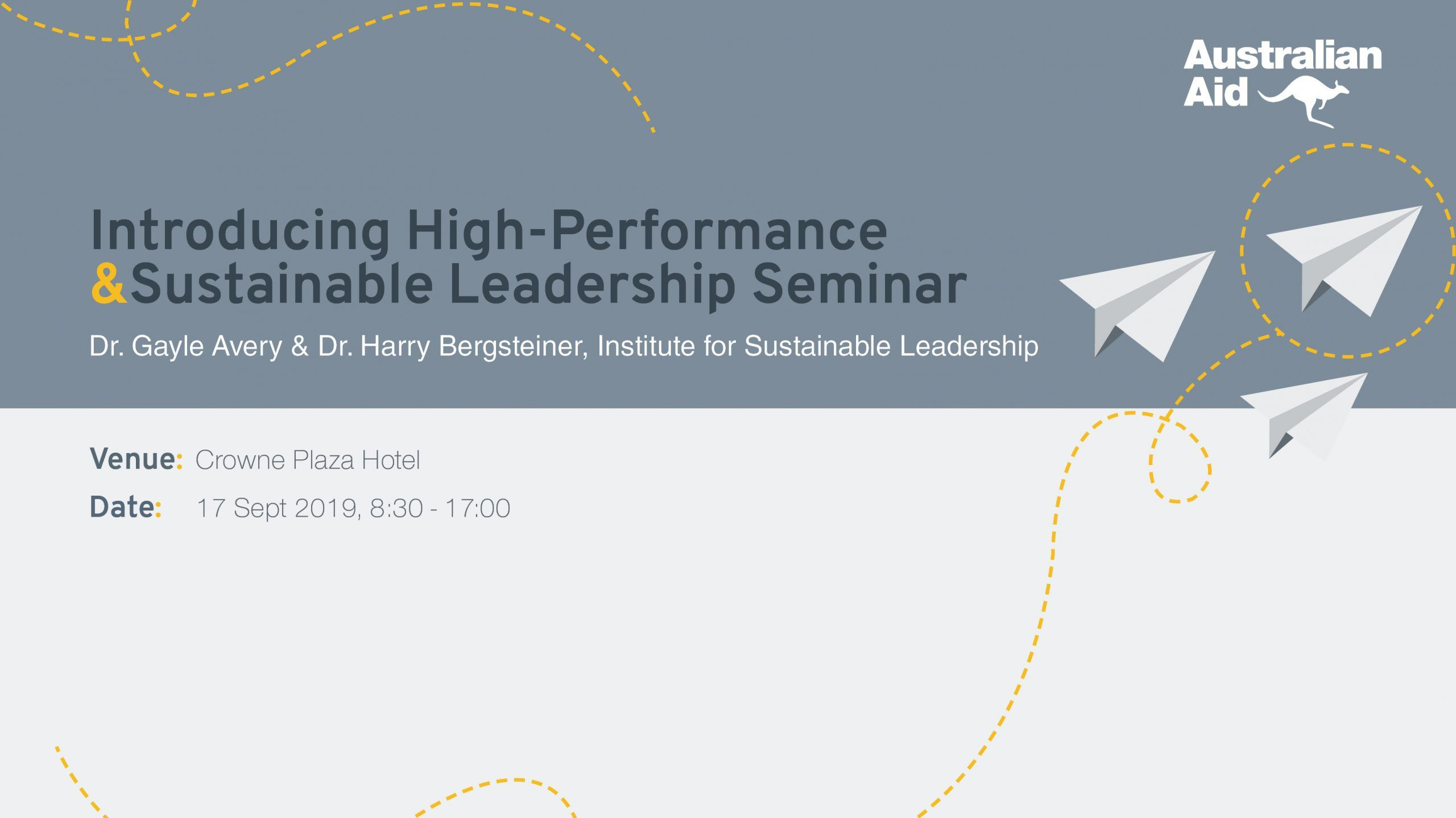 High Performance & Sustainable Leadership Seminar