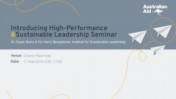 High Performance & Sustainable Leadership Seminar