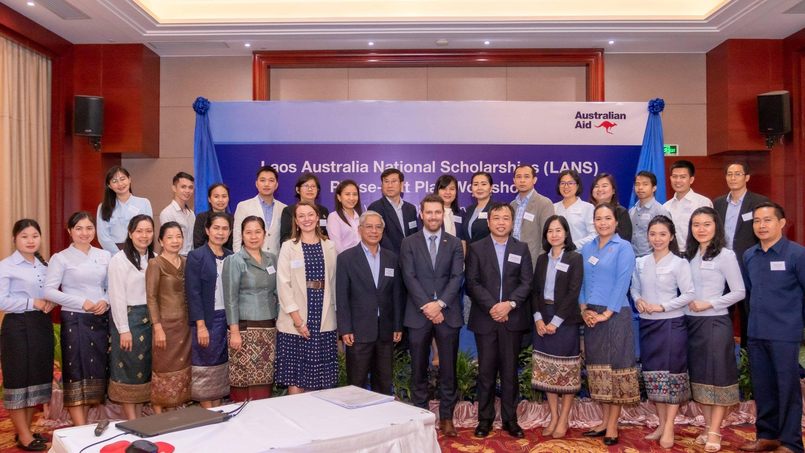Laos Australia National Scholarships (LANS) Planning Workshop celebrates achievements
